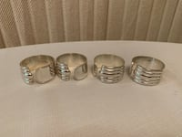 Four Silver Plated Napkin Rings Markham, L3T