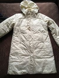 Ivory long winter coat Kitchener, N2E 2K1