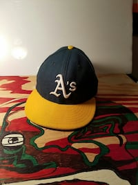 black and yellow Alabama Athletics embroidered fitted cap