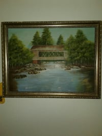 Antique oil painting on,canvas  Lake Worth, 33463
