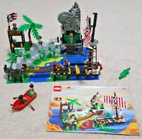 Lego  6281 SET PIRATES  PERILOUS PITFALL 1997 COMPLETE & INSTRUCTIONS island ship