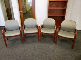 4 office visitor chairs