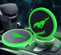 Glowing cup coasters for all cars