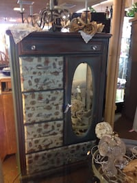 brown wooden framed glass cabinet Huntington Beach, 92647
