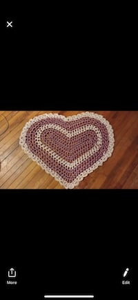 White and pink knitted textile area rug Schenectady, 12308