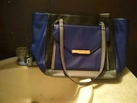 blue and black leather tote bag Jacksonville, 32244