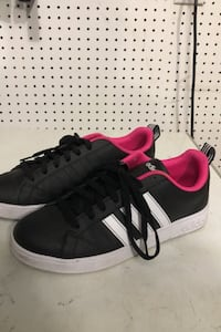 Adidas sneakers pink black shoes