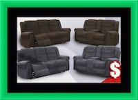 Grey or chocolate recliner set free delivery  Gaithersburg