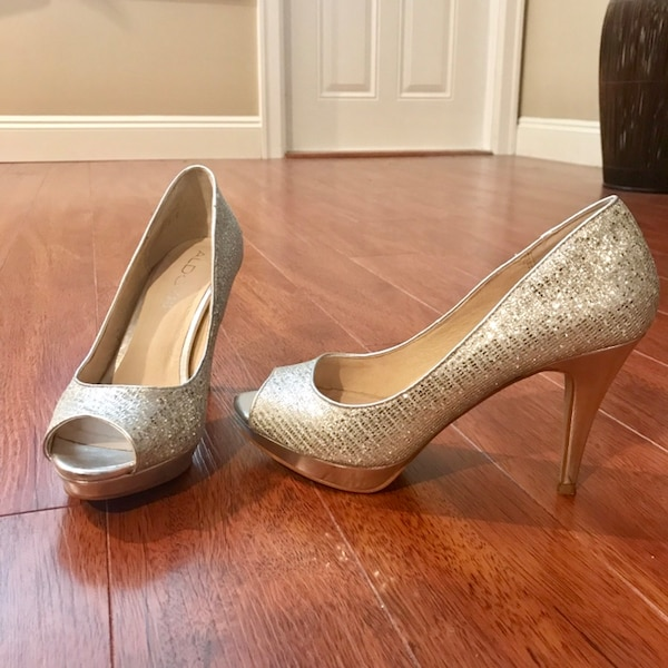 Womens Silver Heel Shoes