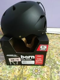 black Bern Team Macon cyclist helmet with box