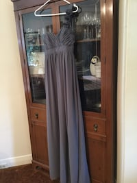 Gray  Ruched sweetheart neckline dress