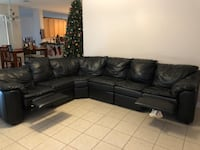 Black leather sectional couch 789 mi