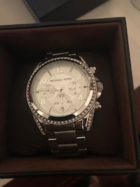 round silver Michael Kors chronograph watch with link bracelet Medford, 02155