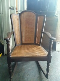 brown wooden framed brown padded armchair Newark, 43055