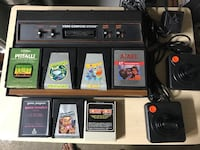 Atari 2600 console with 7 games video games vintage
