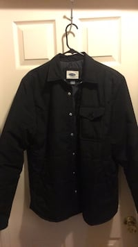 black button-up jacket