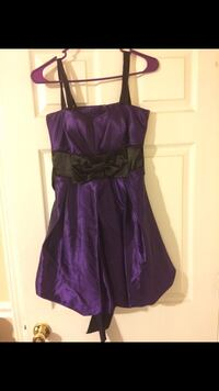 Purple With Black Bow Formal Short Dress Baltimore, 21213