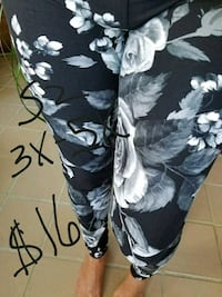 black and white floral leggings  Sidney, 45365