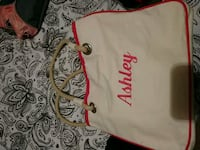 Bag with Ashley embroided on it 1940 mi