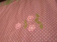 Pink floral curtains.2 panels Woodstock, 30189