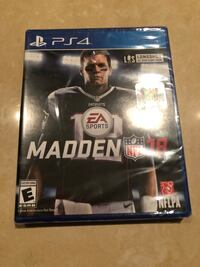 Brand New Sealed MADDEN 18 (PS4) Vancouver