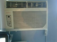 white Sunbeam window-type air conditioner