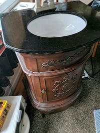 black and brown wooden side table Philadelphia, 19128