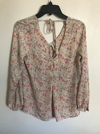 women's white and pink floral dress shirt Cypress, 90630