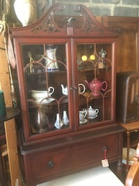 Antique Victorian Style China Cabinet with Filigree and Eagle Steeple Baltimore, 21229