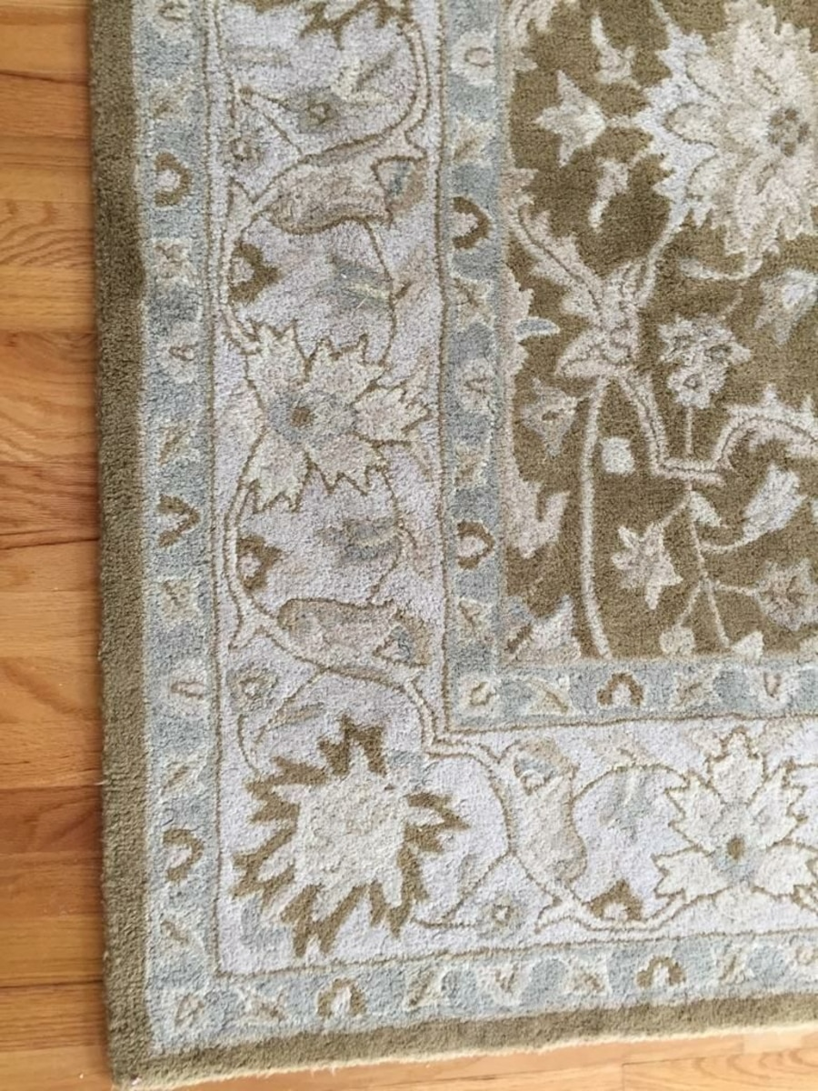 Used Blue Gray And Brown Floral Area Rug In Nutley