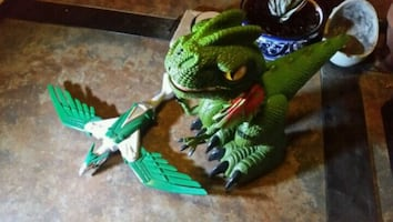 Dinosaur and Robot bird toys