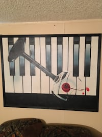 Piano oil painting on canvas