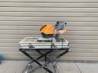 Felker FTS-150 Wet Tile Saw with Rigid Water Pump Pittsburgh, 15210
