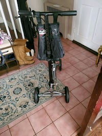 Lifestyle mobility aide - black/ silver with small storage bag.  Pikesville