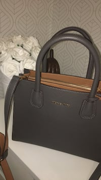 black Michael Kors leather tote bag Silver Spring