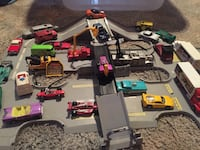 30+ hot wheels cars and race track Akron, 44308