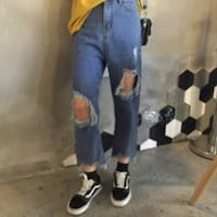 high waisted ripped jeans size S Burnaby, V3J 1C6