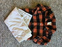 two black and brown button-up shirts 24 months Vancouver