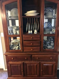 China hutch in two pieces