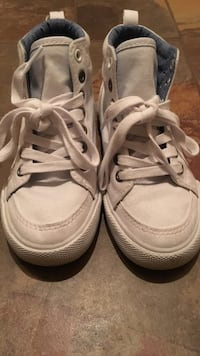 Pair of white high tops Surrey