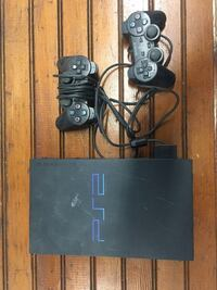 PS 2 with controllers and hookups