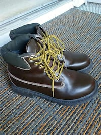 Deer Stags Men's Brown Leather Work Boots Size 9 Melbourne, 32940