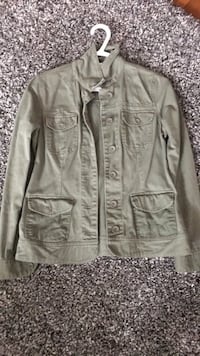 Gray button-up jacket size extra small
