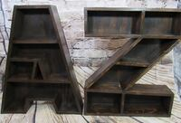 Rustic Giant letter A - Z shelves NEW 3692 km