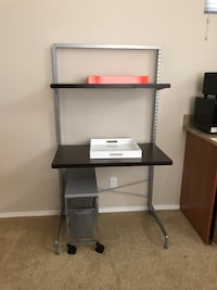 Free Standing Elfa Desk Unit with rolling cart 2294 mi