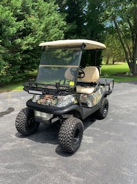 Golf cart set up for hunting with lift kit and six ply knobby tires for corn Fields. Flip down rear seat for hauling, batteries in excellent condition. Charger included. It was also great to use in a campground Smyrna, 19977