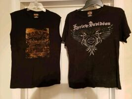 Ladies 2X Harley davidson shirts see description