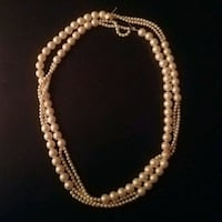 Vintage 70's Double Strands of Pearls Aloha