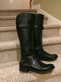 Women's size 11 M  Black Quilted Riding Boots Woodbridge, 22193