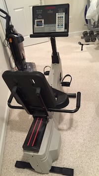 Black and gray stationary bike Glenwood, 21738
